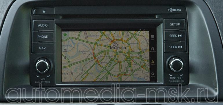 Установка навигации на Mazda CX5