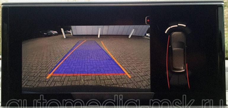 Установка парковочной камеры на Audi Q7