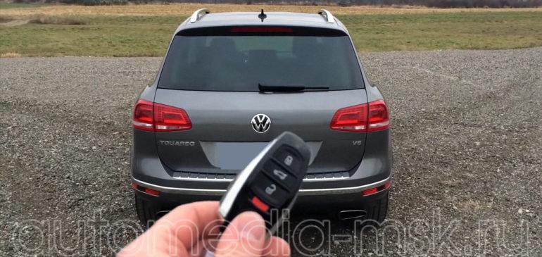Установка электропривода пятой двери на Volkswagen Touareg