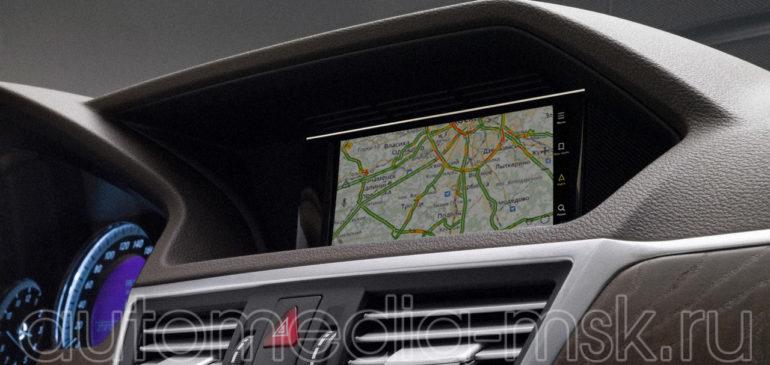 Установка навигации в Mercedes E-Class