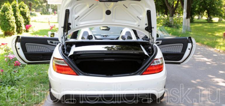 Установка электропривода пятой двери на Mercedes SL