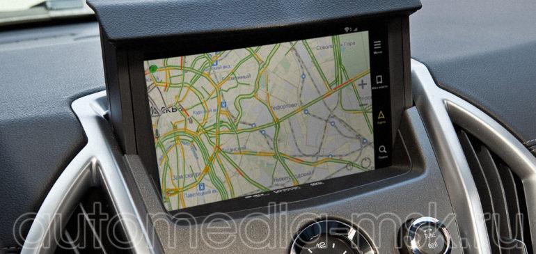 Установка навигации в Cadillac SRX